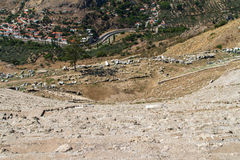 Ruins of Amphitheater in Pergamon Royalty Free Stock Photo