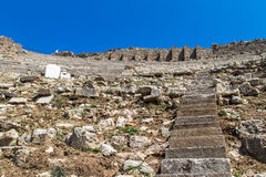 Ruins of Amphitheater in Pergamon Stock Image