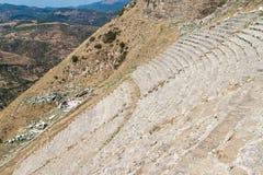 Ruins of Amphitheater in Pergamon Stock Photography