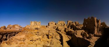 Ruins of the Amun Oracle temple, Siwa oasis, Egypt. Ruins of the Amun Oracle temple in Siwa oasis, Egypt Stock Image