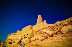 Ruins of the Amun Oracle temple,Siwa oasis, Egypt. Ruins of the Amun Oracle temple in Siwa oasis, Egypt Stock Image