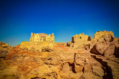 Ruins of the Amun Oracle temple,Siwa oasis, Egypt. Ruins of the Amun Oracle temple in Siwa oasis, Egypt Stock Photos