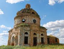 Ruins of ancient abandoned church Royalty Free Stock Photos