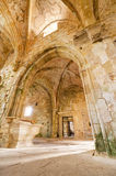 Ruins of an ancient abandoned monastery. Royalty Free Stock Photos