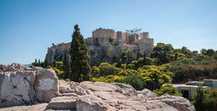 Ruins of the ancient Acropolis in Athens Royalty Free Stock Photos
