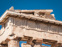 Ruins of the ancient Acropolis in Athens Stock Images