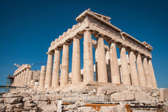 Ruins of the ancient Acropolis in Athens Royalty Free Stock Photo