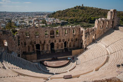 Ruins of the ancient Acropolis in Athens Royalty Free Stock Image