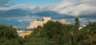 Ruins of the ancient Acropolis in Athens Stock Image