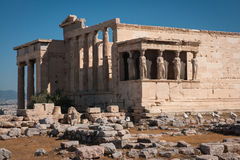 Ruins of the ancient Acropolis in Athens Royalty Free Stock Images