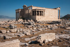 Ruins of the ancient Acropolis in Athens Stock Photo