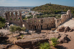 Ruins of the ancient Acropolis in Athens Stock Photography