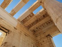 The acropolis of Athens, Greece. Ruins of the ancient acropolis of Athens, Greece royalty free stock images