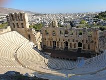 The acropolis of Athens, Greece. Ruins of the ancient acropolis of Athens, Greece Stock Images