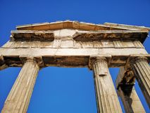 The acropolis of Athens, Greece. Ruins of the ancient acropolis of Athens, Greece stock photo