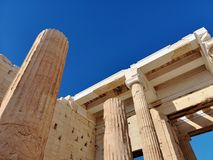 The acropolis of Athens, Greece. Ruins of the ancient acropolis of Athens, Greece royalty free stock photography