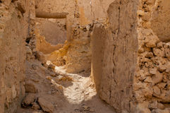 The ruins of ancient African Berber city fortress Stock Images