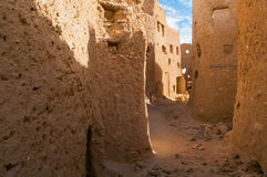 The ruins of ancient African Berber city fortress stock photo
