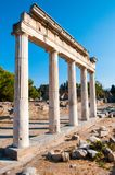 Ruins of the ancient Agora, Kos island. Ruins of the ancient Agora - archaeological site in Kos island, Greece Royalty Free Stock Photography
