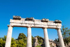 Ruins of the ancient Agora, Kos island. Ruins of the ancient Agora - archaeological site in Kos island, Greece Royalty Free Stock Images