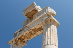 Ruins of ancient agora in Kos town, Kos island Royalty Free Stock Image