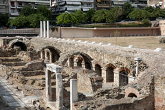 Ruins of Ancient Agora, Thessaloniki Stock Photos