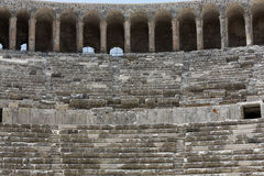 Ruins of ancient amphitheater in Aspendos. Antalya, Turkey Stock Image