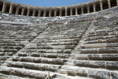 Ruins of ancient amphitheater in Aspendos,. Antalya, Turkey Stock Images
