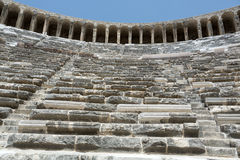 Ruins of ancient amphitheater in Aspendos. Antalya, Turkey Royalty Free Stock Photography