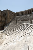 Ruins of ancient amphitheater in Aspendos Stock Image