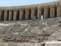 Ruins of ancient amphitheater in Aspendos, Royalty Free Stock Photos