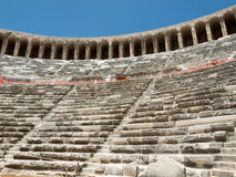 Ruins of ancient amphitheater in Aspendos, Royalty Free Stock Image