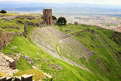 Ruins in ancient amphitheater of Pergamon Royalty Free Stock Photos