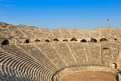 Ruins of the ancient amphitheater Royalty Free Stock Images