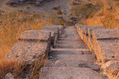 Ruins of ancient amphitheatre in Erytrai Royalty Free Stock Photos