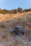 Ruins of ancient amphitheatre in Erytrai Turkey Stock Photos