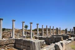 Ruins of the ancient anatolian city Perge Perga in Turkey Stock Photo