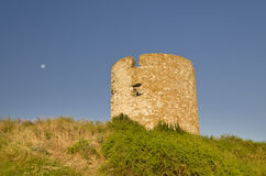 Ruins of the ancient ancient tower Stock Photo