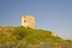 Ruins of the ancient ancient tower Royalty Free Stock Photo