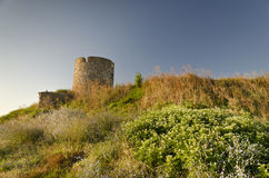 Ruins of the ancient ancient tower Royalty Free Stock Photography