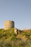 Ruins of the ancient ancient tower. At seaside Nessebar, Bulgaria stock photos