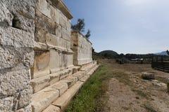 Ruins of ancient Andriyake in Turkey Royalty Free Stock Photo