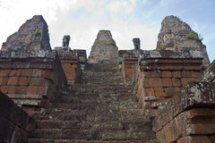 Ruins of ancient Angkor temple Bakong Stock Photography