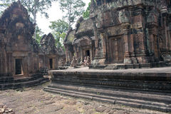 Ruins of ancient Angkor temple Banteay Srei Stock Photos
