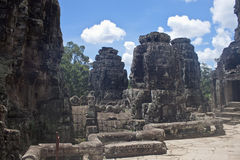 Ruins of ancient Angkor temple Bayon Stock Photos