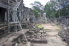 Ruins of ancient Angkor temple Bayon Royalty Free Stock Image