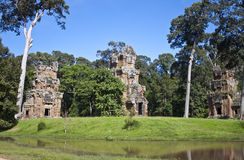 Ruins of ancient Angkor temples Stock Photos