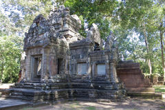 Ruins of ancient Angkor temples Royalty Free Stock Images