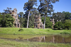 Ruins of ancient Angkor temples Royalty Free Stock Photo