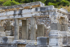The ruins of the ancient antique city of Ephesus Royalty Free Stock Photos